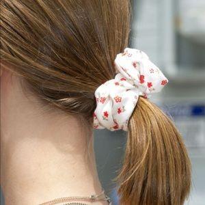 Brandy Melville Red Floral Scrunchie
